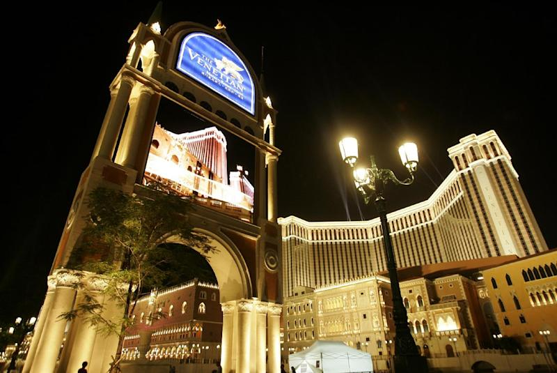 FILE - This Aug. 28, 2007 file photo shows the Venetian Macao Resort Hotel in Macau. Las Vegas Sands Corp., the U.S. gambling company controlled by billionaire Sheldon Adelson, which owned the Venetian resort, is being sued for $328 million over the way it won a lucrative gaming license in the Asian casino hub. Nine years of litigation between a Hong Kong businessman and casino mogul Adelson is drawing to a close. Attorneys began closing arguments Thursday in the dispute between Las Vegas Sands and a fixer who says he helped the casino giant win a license in the Chinese gambling enclave of Macau. (AP Photo/Kin Cheung, File)