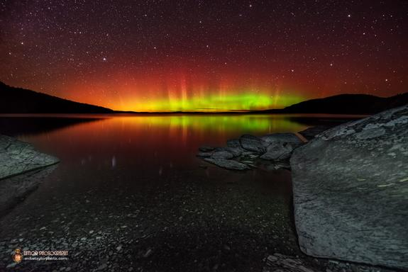 Stunning Northern Lights Over Maine's Moosehead Lake a 'Sight to Behold' (Photo)