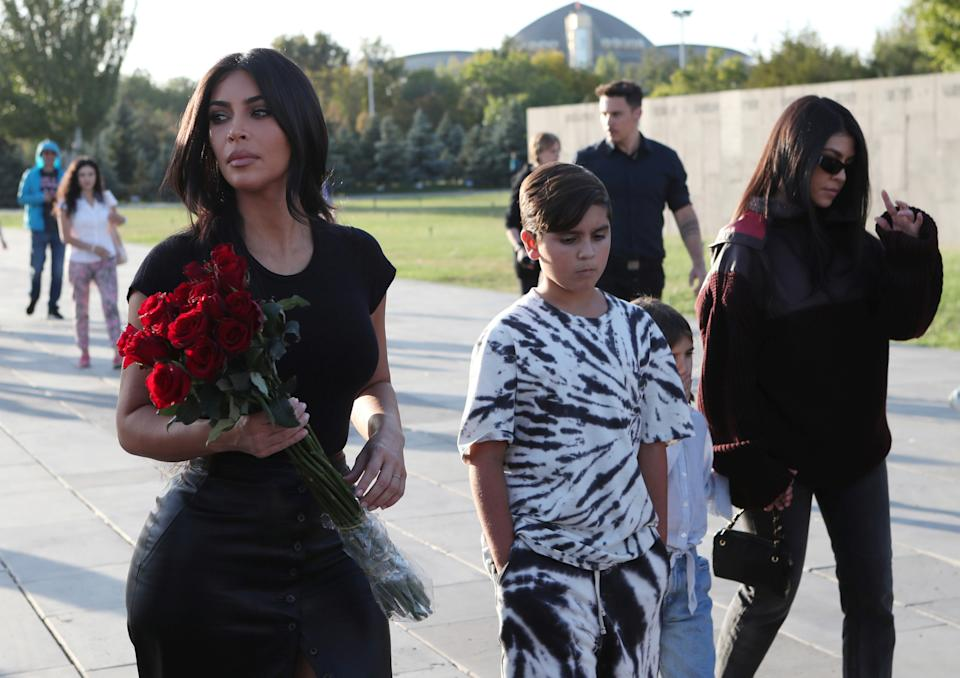 Kim Kardashian and Kourtney Kardashian took their children on a trip to Armenia in 2019. (Photo: Hayk Baghdasaryan/Photolure via REUTERS)
