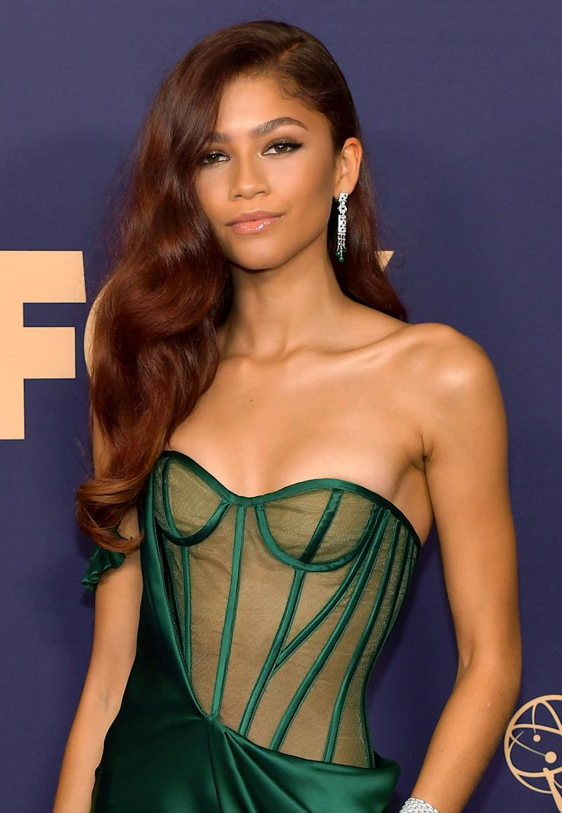 All eyes were on actress Zendaya and her old Hollywood glam look. (Photo: Getty Images)