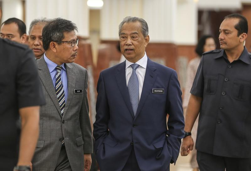 Muhyiddin denied that PPBM is deliberately enticing Opposition lawmakers to boost its representation in Parliament. — Picture by Azneal Ishak