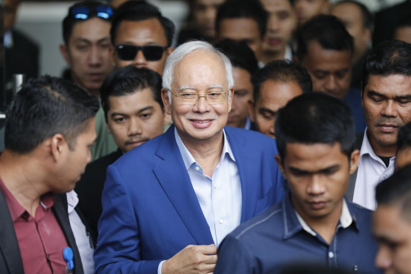 Former Malaysian leader Najib grilled by anti-graft agency