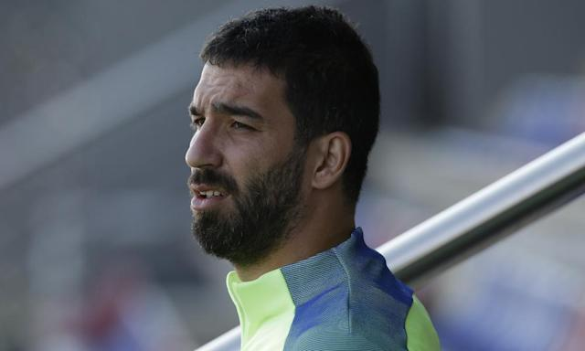 """<span class=""""element-image__caption"""">Barcelona midfielder Arda Turan is reported to be the subject of interest from Arsenal. </span> <span class=""""element-image__credit"""">Photograph: Manu Fernandez/AP</span>"""