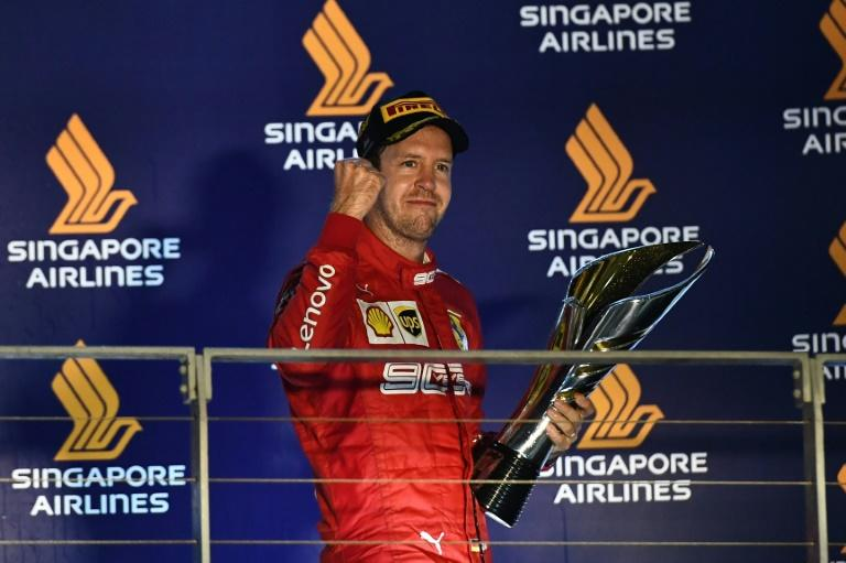 It was Vettel's fifth win on the Marina Bay circuit