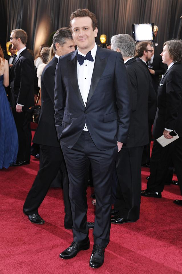 Jason Segel arrives at the 84th Annual Academy Awards in Hollywood, CA.