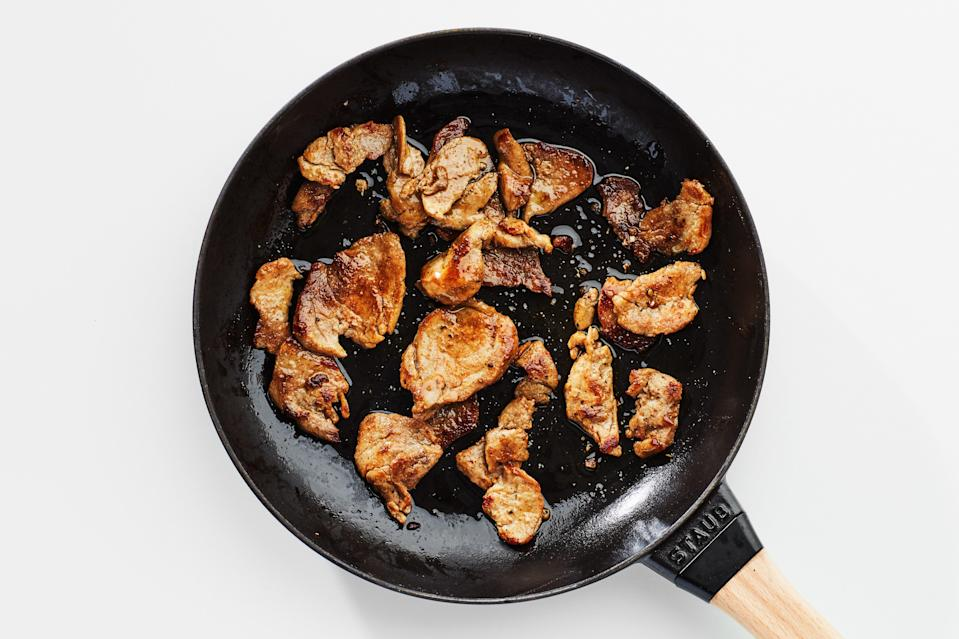 """Stash bags of these spice-rubbed pork tenderloin strips in your freezer to use to make family-friendly dinners. It's a great way to live that <a href=""""https://www.epicurious.com/expert-advice/big-batch-cooking-help-you-with-your-ingredient-stash-article?mbid=synd_yahoo_rss"""" rel=""""nofollow noopener"""" target=""""_blank"""" data-ylk=""""slk:batch-cooking"""" class=""""link rapid-noclick-resp"""">batch-cooking</a> lifestyle. <a href=""""https://www.epicurious.com/recipes/food/views/big-batch-freezer-pork-tenderloin-strips?mbid=synd_yahoo_rss"""" rel=""""nofollow noopener"""" target=""""_blank"""" data-ylk=""""slk:See recipe."""" class=""""link rapid-noclick-resp"""">See recipe.</a>"""