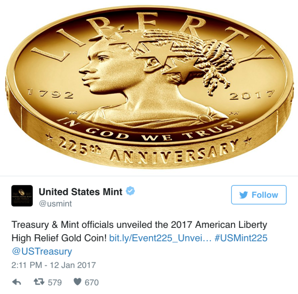 Lady Liberty Will Appear as a Woman of Color on U.S. Currency for the First Time in History
