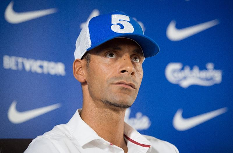 Rio Ferdinand definitely looks the part in first image as boxer
