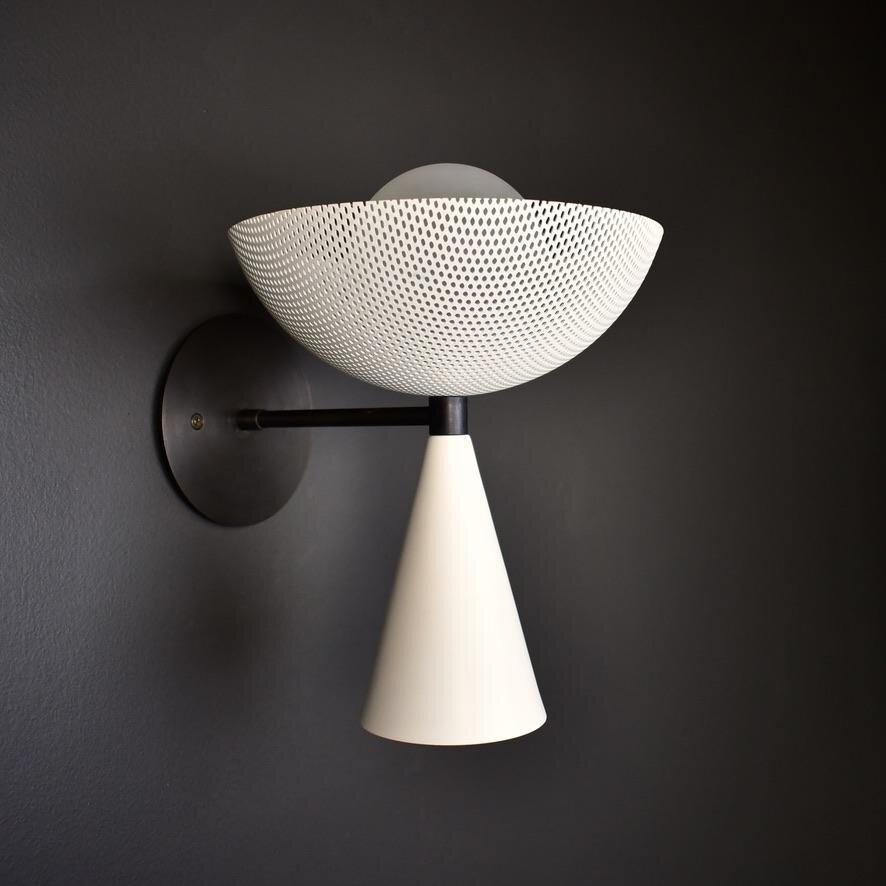 White Wall Sconce