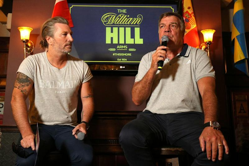 Robbie Savage and Sam Allardyce held a Q&A session at the pub (PA)