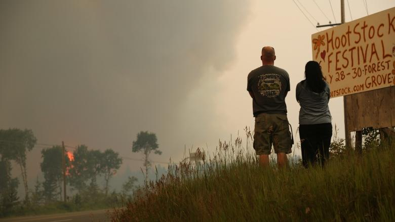 More evacuations in B.C. Interior as winds whip up flames