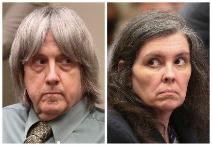 FILE PHOTO: A combination photo shows David Allen Turpin and Louise Anna Turpin (R) making a court appearance in Riverside, California, U.S., May 4, 2018. Frederick M. Brown/Pool via REUTERS