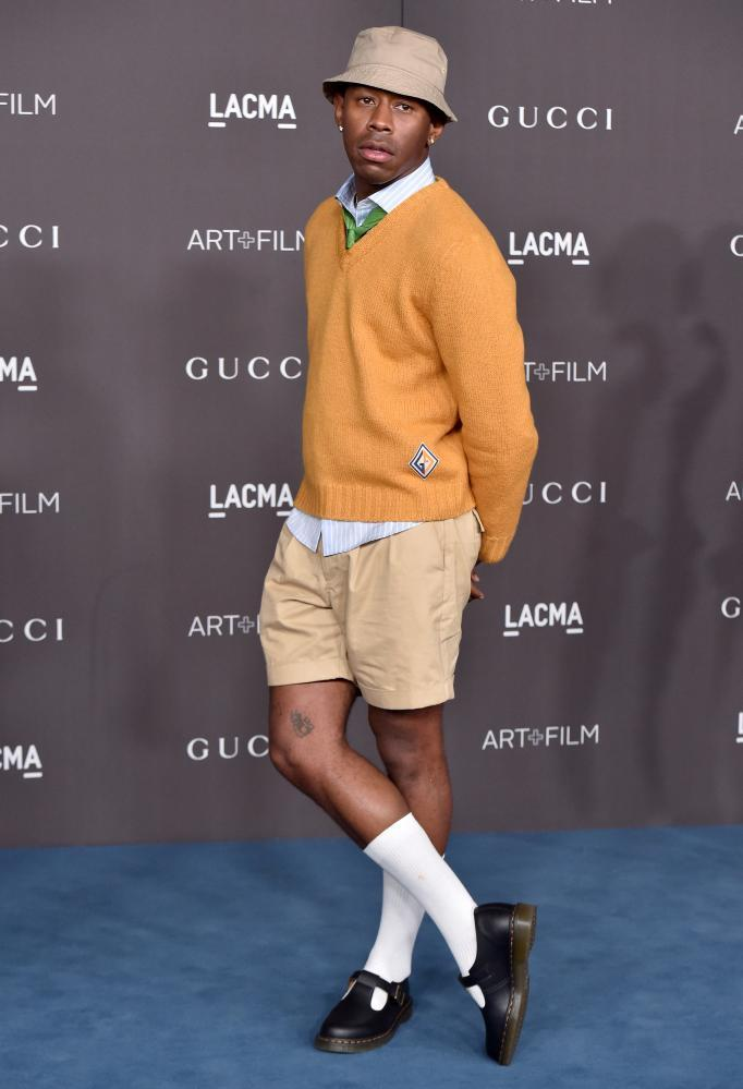 Short and sweet: Tyler, the Creator attends an award ceremony in shorts and sandals.