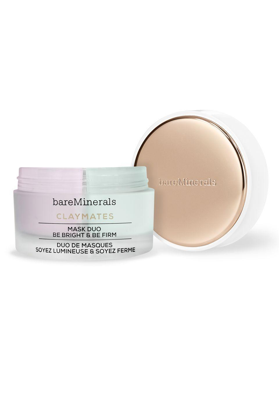 """<p>Use the Be Pure side of this mask on areas of the face that need a deep cleansing — then pop the Be Dewy side onto areas that are dry or red. You'll get targeted results <em>exactly </em>where you need them.</p><p>BareMinerals Claymates Be Pure and Be Dewey Mask Duo, $35, <a href=""""https://www.bareminerals.com/skincare/masks/claymates-be-pure-%26-be-dewy-mask-duo/US86007.html"""" rel=""""nofollow noopener"""" target=""""_blank"""" data-ylk=""""slk:bareminerals.com"""" class=""""link rapid-noclick-resp"""">bareminerals.com</a></p>"""