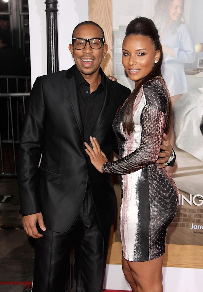 """<a href=""""http://movies.yahoo.com/movie/contributor/1804022336"""">Ludacris</a> and guest attend the Los Angeles premiere of <a href=""""http://movies.yahoo.com/movie/1810159162/info"""">No Strings Attached</a> on January 11, 2011."""