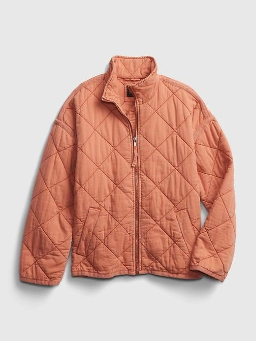 <p>I plan to layer this <span>Gap Quilted Jacket</span> ($58-$96, originally $98-$128) into the spring for a pop of color in my transition wardrobe.</p>