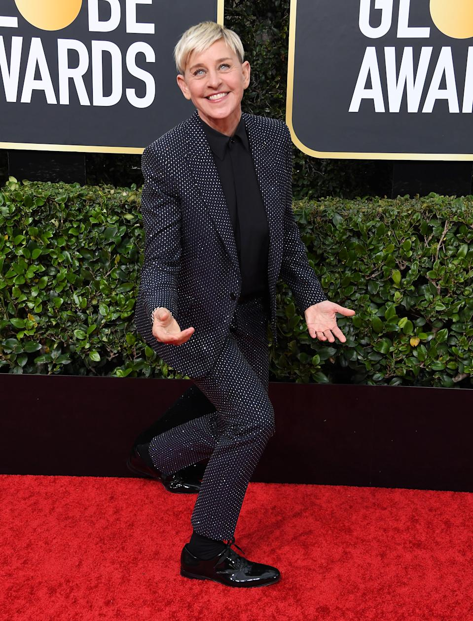 Ellen DeGeneres arrives at the 77th Annual Golden Globe Awards attends the 77th Annual Golden Globe Awards at The Beverly Hilton Hotel on January 05, 2020 in Beverly Hills, California. (Photo by Steve Granitz/WireImage)
