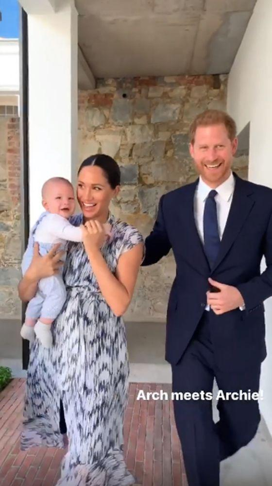 Meghan Markle, Prince Harry, and Archie | Sussex Royal Instagram