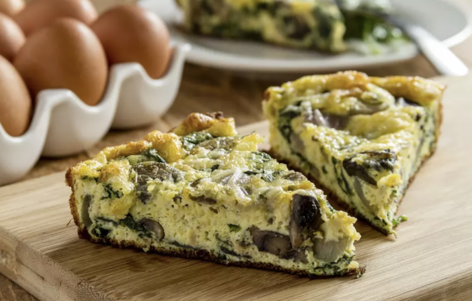 """<p>This super accessible frittata recipe can be made in just 10 minutes using an Instant Pot. Frittatas are an effortless way to use eggs and any <a href=""""https://www.thedailymeal.com/how-to-use-up-leftovers?referrer=yahoo&category=beauty_food&include_utm=1&utm_medium=referral&utm_source=yahoo&utm_campaign=feed"""" rel=""""nofollow noopener"""" target=""""_blank"""" data-ylk=""""slk:leftover vegetables"""" class=""""link rapid-noclick-resp"""">leftover vegetables</a> like spinach that would have otherwise wilted in the produce drawer. </p> <p><a href=""""https://www.thedailymeal.com/best-recipes/instant-pot-spinach-frittata-breakfast?referrer=yahoo&category=beauty_food&include_utm=1&utm_medium=referral&utm_source=yahoo&utm_campaign=feed"""" rel=""""nofollow noopener"""" target=""""_blank"""" data-ylk=""""slk:For the Instant Pot Spinach Frittata recipe, click here."""" class=""""link rapid-noclick-resp"""">For the Instant Pot Spinach Frittata recipe, click here.</a></p>"""