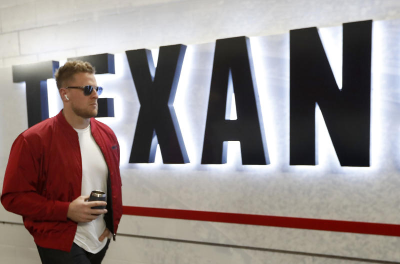 On Feb. 1, Houston Texans pass-rusher J.J. Watt will become the 12th NFL player or coach to host 'Saturday Night Live.' (Tim Warner/Getty Images)