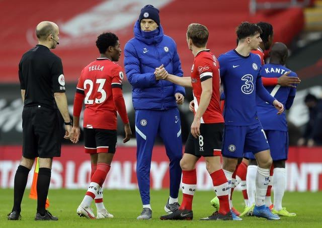 Thomas Tuchel's side were frustrated by Southampton