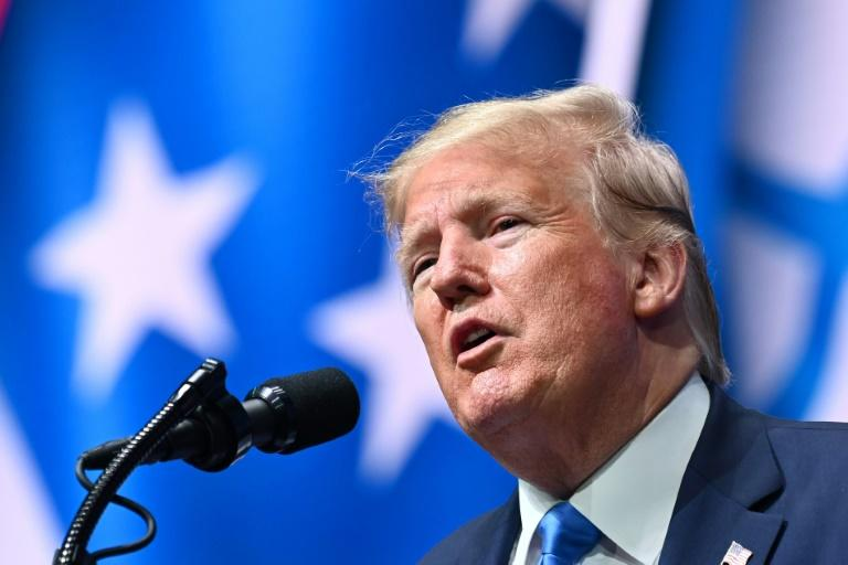 Trump is the first US president since Richard Nixon not to make his tax returns public, claiming they are under audit by the Internal Revenue Service (AFP Photo/Mandel NGAN)