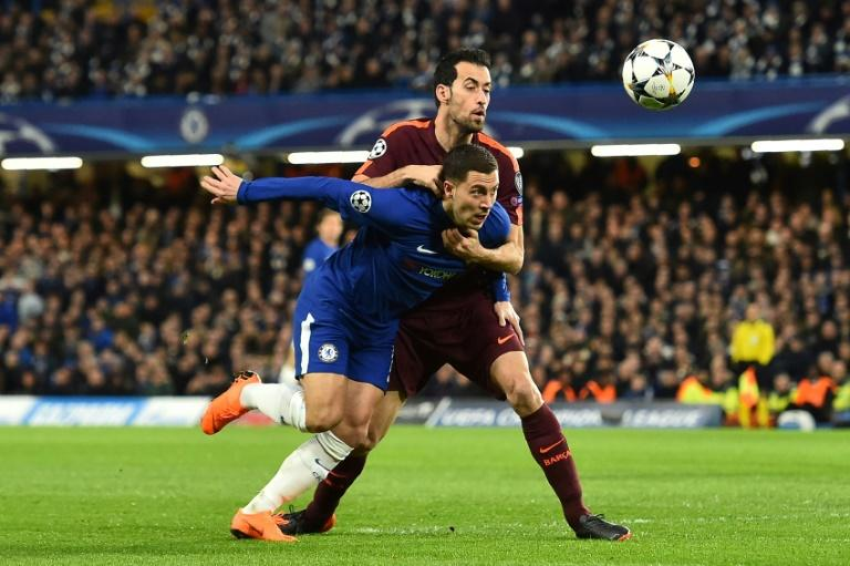 Sergio Busquets and the rest of the Barcelona team kept Eden Hazard quiet in the Champions League