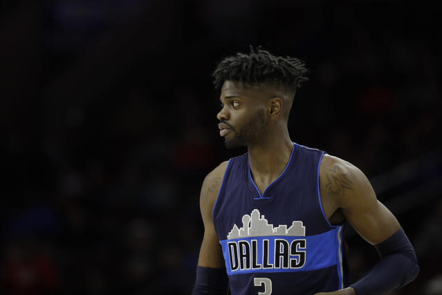 """<a class=""""link rapid-noclick-resp"""" href=""""/nba/players/5157/"""" data-ylk=""""slk:Nerlens Noel"""">Nerlens Noel</a> reportedly turned down $70 million to sign for $4 million. You do the math. (AP)"""