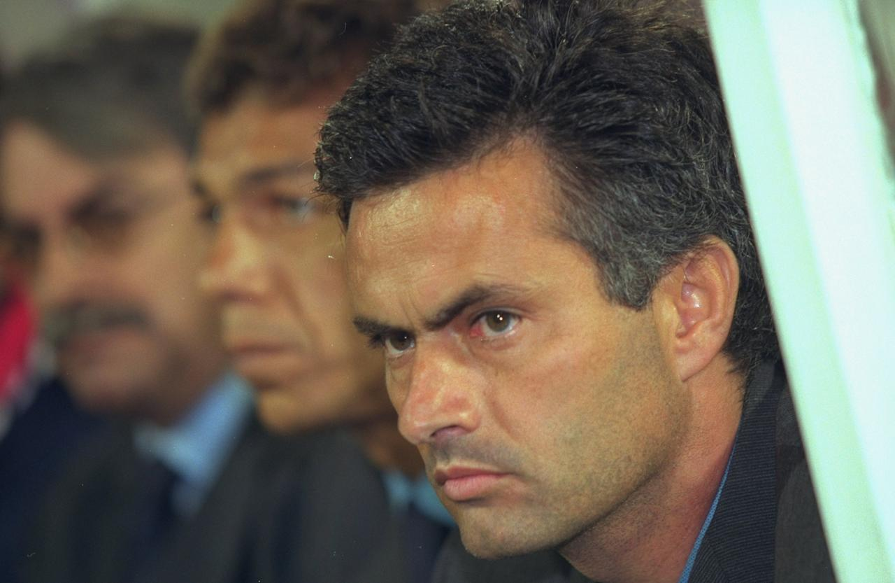 28 Sep 2000:  Portrait of Jose Mourinho the Benfica Coach during the UEFA Cup first round second leg match against Halmstads at the Stadium of Light, in Lisbon, Portugal. The match ended in a 2-2 draw. \ Photo taken by Nuno Correia \ Mandatory Credit: Allsport UK /Allsport