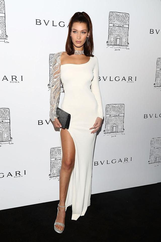 <h2>In Roberto Cavalli Dress, Bulgari Jewels And Stuart Weitzman Heels</h2>                                                                                                                                                                             <p><p>At Bulgari's opening in New York City, 2017.</p>                                                                                                                                                                               <h4>Getty Images</h4>