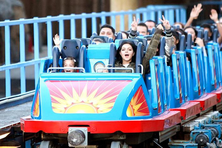 <p>Not every photo of the Modern Family star is scandalous. Here she did some California Screamin' on a PG trip to Disney California Adventure. (Photo: FameFlynet/AKM-GSI) </p>