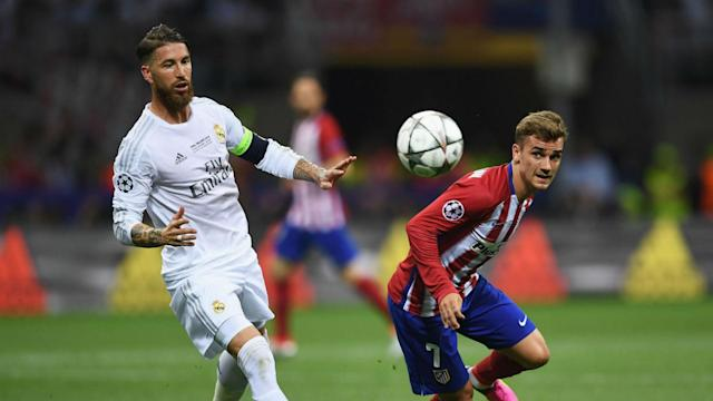 Sergio Ramos is primed for some tough encounters against Antoine Griezmann but is glad the France and Atleti star plies his trade in LaLiga.