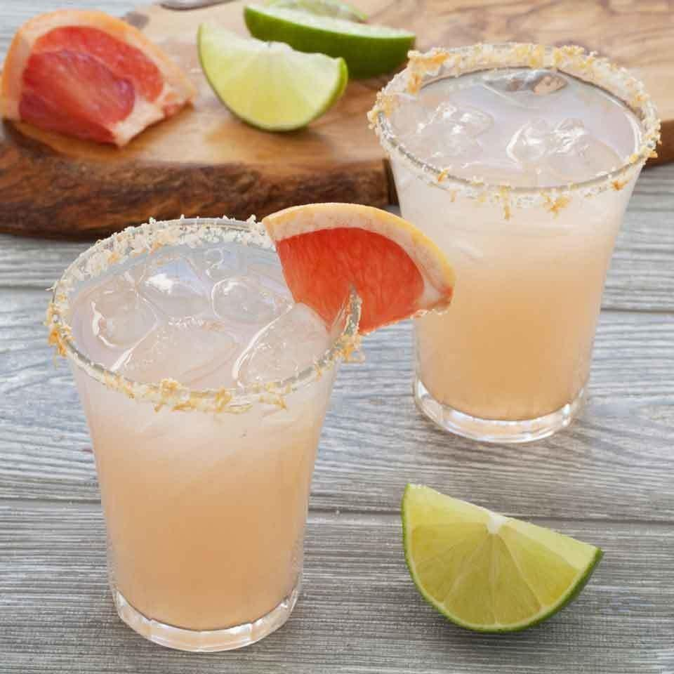 <p>Fresh grapefruit juice adds a zesty punch and lovely pink color to this refreshing skinny margarita. For the perfect finish, upgrade the salt rim on your glass by mixing in a little grapefruit zest to add to both the presentation and flavor.</p>