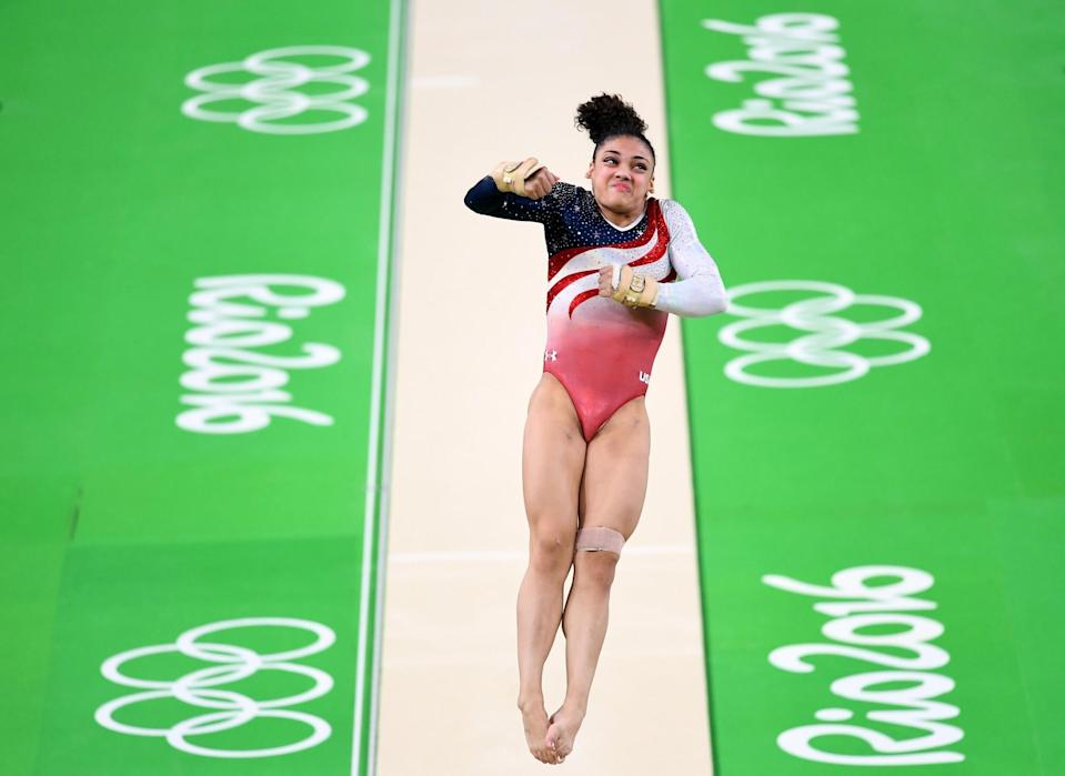 <p>Lauren Hernandez of the United States competes on the vault during the Artistic Gymnastics Women's Team Final on Day 4 of the Rio 2016 Olympic Games at the Rio Olympic Arena on August 9, 2016 in Rio de Janeiro, Brazil. (Photo by Quinn Rooney/Getty Images) </p>