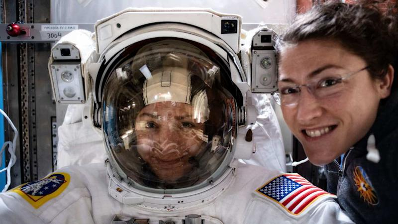 First women astronaut duo to conduct a spacewalk now aim on landing on the moon