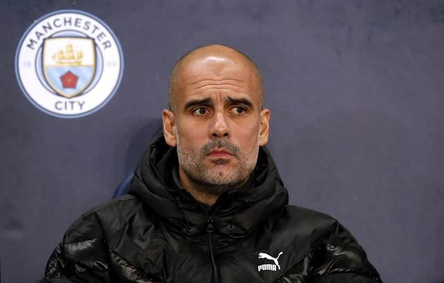 Pep Guardiola is not look to add to his squad (Martin Rickett/PA)