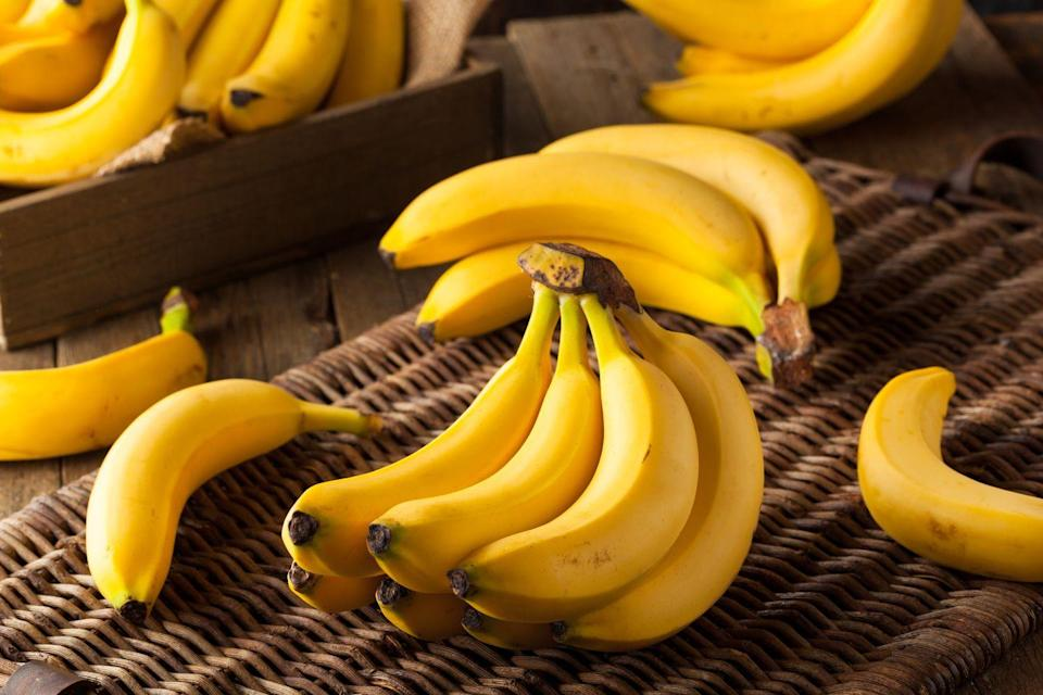 """<p>Good old bananas are loaded with <a href=""""https://www.prevention.com/food-nutrition/g20899721/potassium-deficiency-symptoms/"""" rel=""""nofollow noopener"""" target=""""_blank"""" data-ylk=""""slk:potassium"""" class=""""link rapid-noclick-resp"""">potassium</a>—a macronutrient that helps control your blood pressure and keeps your nervous system operating at peak efficiency. Potassium also lowers your risk for stroke. But if you're like most women, you're consuming only half the potassium your body needs. One banana packs 450 milligrams—about 10 percent of your daily potassium target—as well as fiber to keep your digestive system running smoothly.</p><p><strong>Try it: </strong><a href=""""https://www.prevention.com/food-nutrition/recipes/a20492592/grilled-banana-sandwiches/"""" rel=""""nofollow noopener"""" target=""""_blank"""" data-ylk=""""slk:Grilled Banana Sandwiches"""" class=""""link rapid-noclick-resp"""">Grilled Banana Sandwiches</a></p>"""