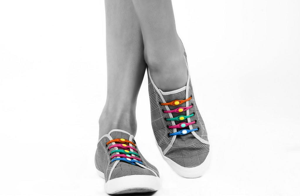 "<a href=""http://www.kickstarter.com/projects/hickies/hickies-turn-your-kicks-into-slip-ons?ref=category"">Hickies</a>  replace traditional shoelaces with a system that lets users easily slip  in and out of their shoes while keeping them snug and secure. It  eliminates the worry or need to ever tie or untie shoes again by turning  every shoe into a slip-on. They adjust to any size shoe and come in a  wide variety of colors and styles. With the help of more than 3,300  backers, Hickies raised nearly $160,000 in 45 days."