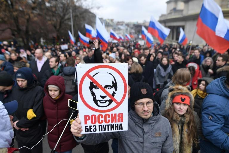 A Moscow rally marks five years since the assassination of opposition politician Boris Nemtsov, but its organisers also want to send a message to President Vladimir Putin