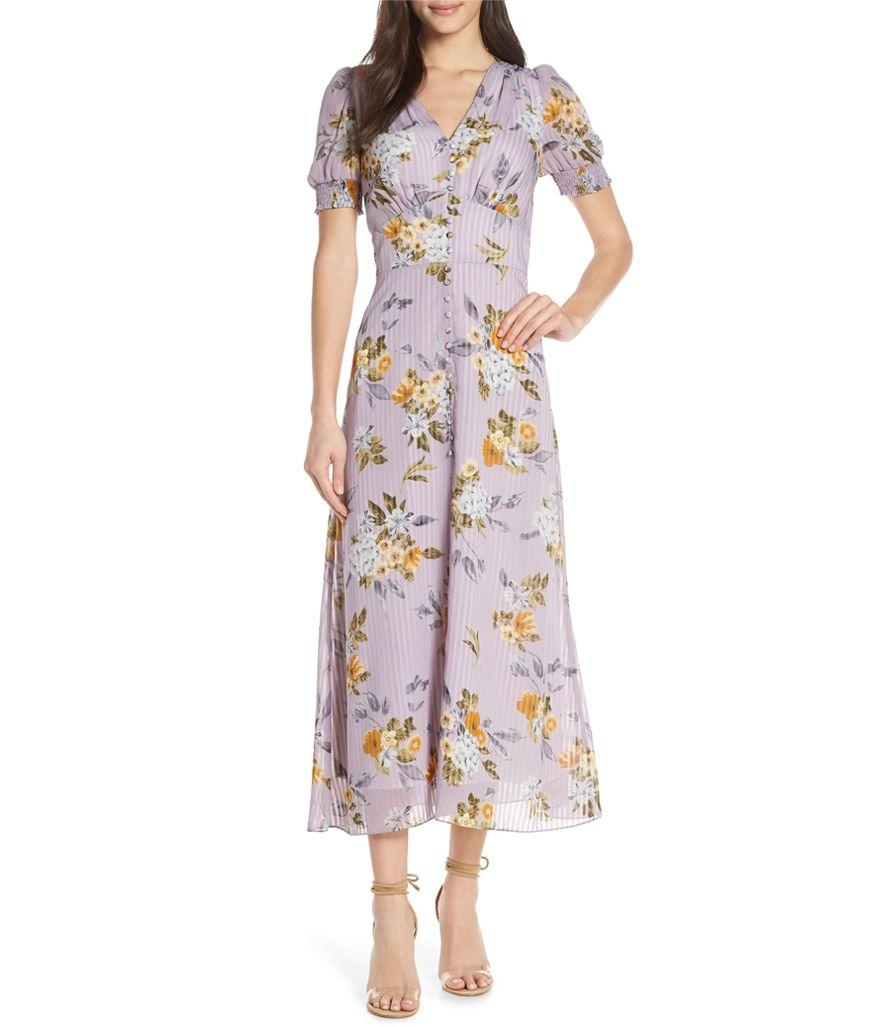 Chelsea 28 V-Neck Floral Midi Dress (Photo: Nordstrom)