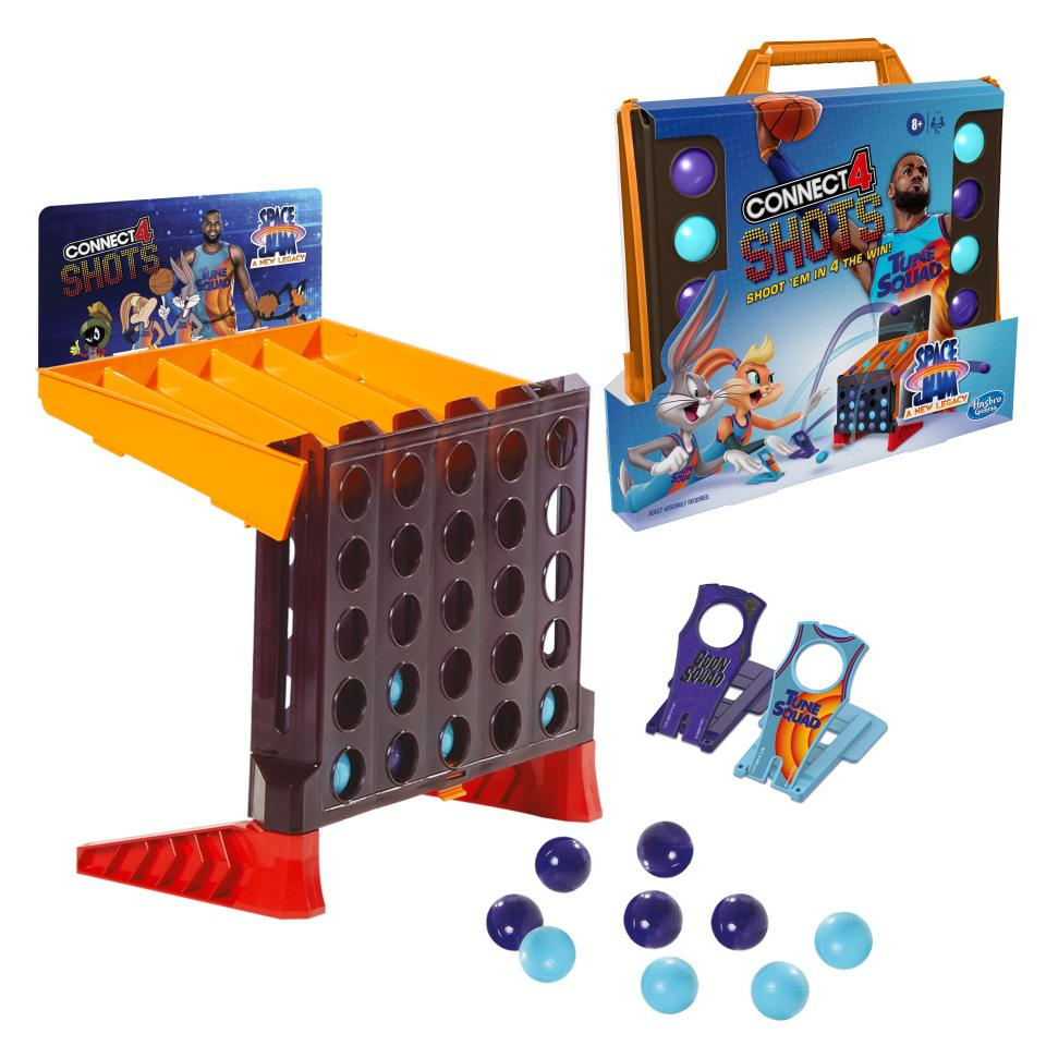 The board and box for 'Connect 4 Shots: Space Jam A New Legacy Edition' (Photo: Hasbro)