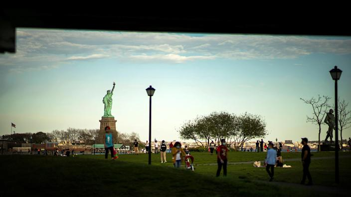 Image: Liberty State Park in New Jersey (Eduardo Munoz / Reuters)