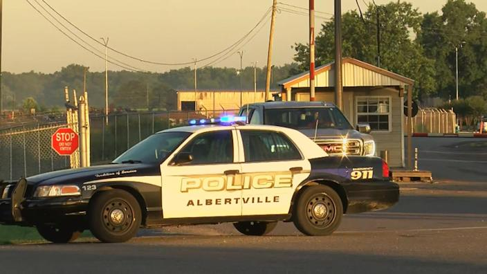 Two employees of the Mueller Co. are dead following a shooting incident in Albertville, Ala., on June 15, 2021. (via WAFF)