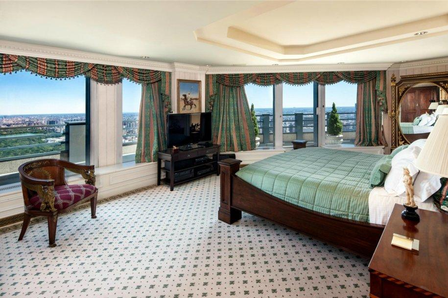 The master bedroom encompasses an entire floor of the penthouse.