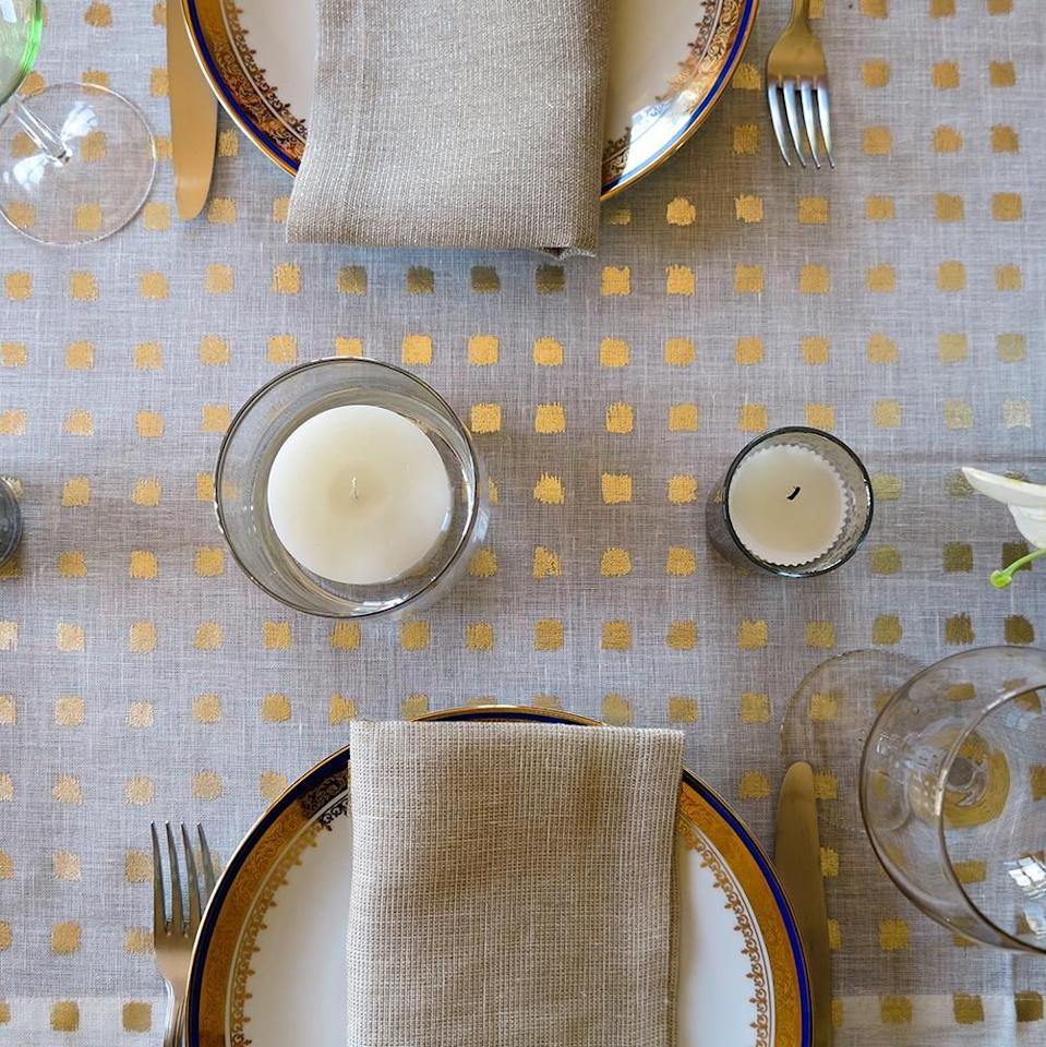 """<p>Tablecloths are the base of most great holiday tablescapes. From there, you can coordinate dishes, linens, and <a href=""""https://www.housebeautiful.com/entertaining/holidays-celebrations/g2684/thanksgiving-centerpieces/"""" target=""""_blank"""">centerpieces</a>, and any other accessories you like to put out when you're <a href=""""https://www.housebeautiful.com/entertaining/holidays-celebrations/g2647/thanksgiving-decorations/"""" target=""""_blank"""">decorating for Thanksgiving</a>. And if you're not a tablecloth person, a table runner can be a great way to add texture to your set-up without covering the <em>whole </em>table—or you can layer a fun runner over a neutral tablecloth to change things up. </p><p>In any case, your holiday table setting needs a foundation, and you want it to be the most stylish one you can muster. These tablecloths and table runners are perfect for Thanksgiving thanks to their autumnal color schemes, metallic accents, and fall motifs, but there are plenty you can easily use year-round, too. Now all that's left is to figure out your <a href=""""https://www.housebeautiful.com/entertaining/holidays-celebrations/g22778748/thanksgiving-dinnerware/"""" target=""""_blank"""">dinnerware</a> and table decor—oh, and get to cooking, of course. </p>"""