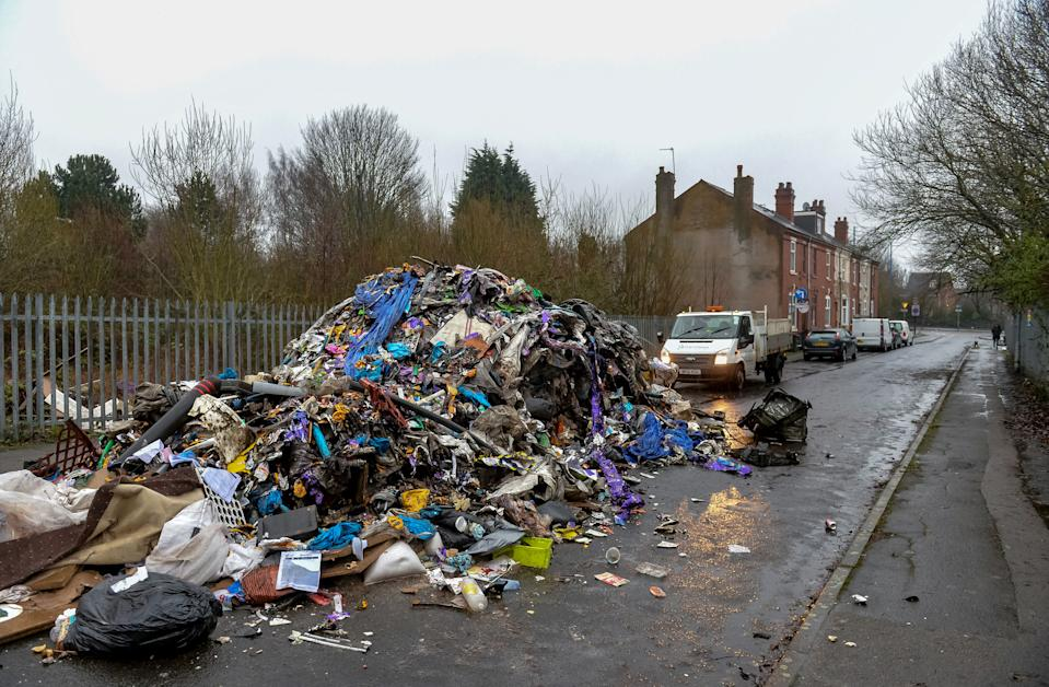 Locals are calling for CCTV to be installed in the area after a spate of fly-tipping incidents. (SWNS)