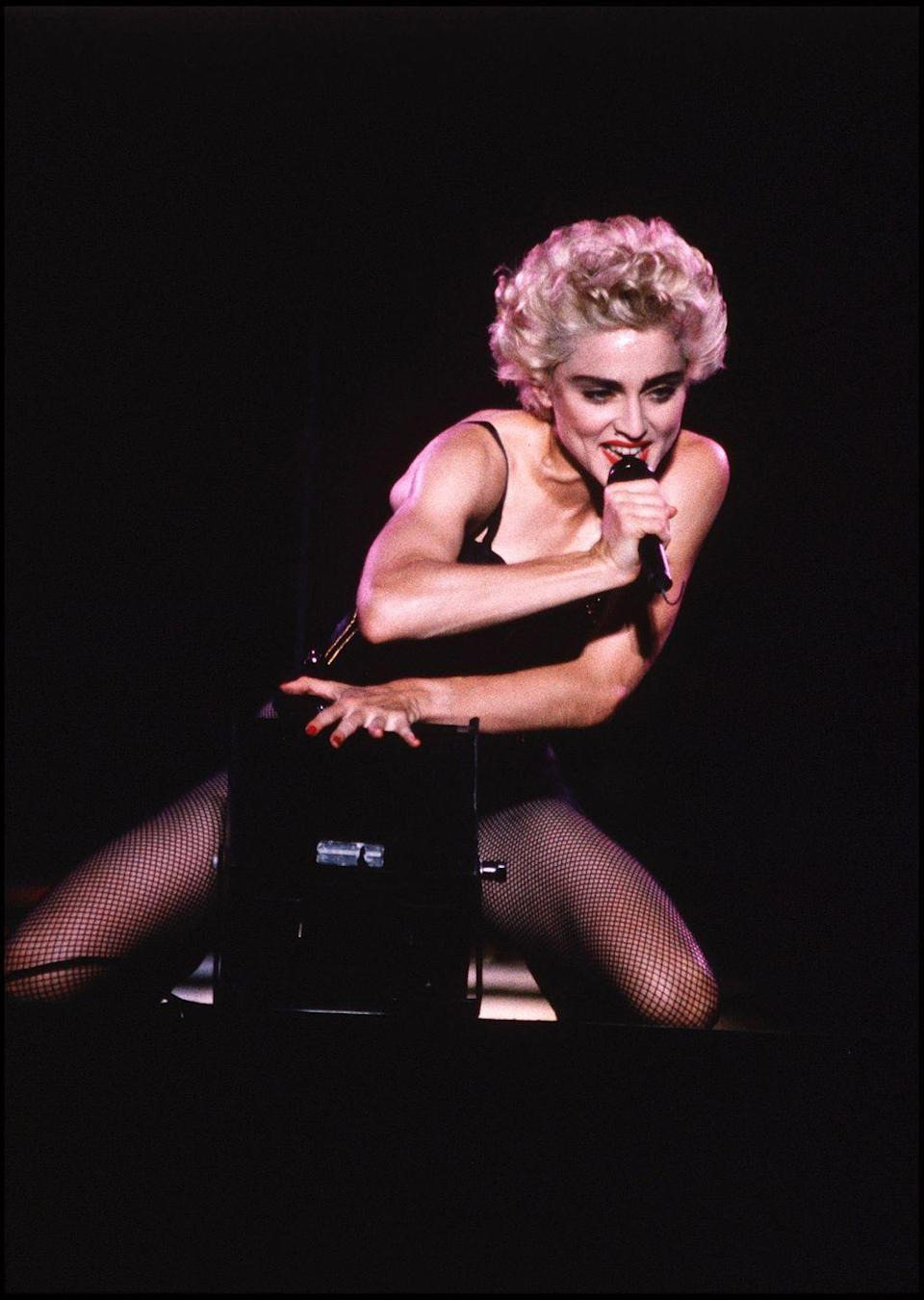 <p>She's referred to as the Queen of Pop, with her career taking off in 1982 with the hits <em>Lucky Star, Borderline, </em>and <em>Like a Virgin. </em>Madonna's style made her a true icon in the '80s as she pushed the envelope with her sexual expression and powerful message.</p>