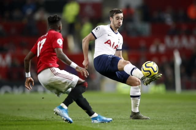 Harry Winks was brought into the side (Martin Rickett/PA)