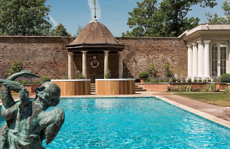 """<p>Summer is officially here and if your plans involve forgoing the trip abroad for a staycation in the UK instead, you'll want to know about England's most desirable hotels with outdoor pools for a refreshing dip this season.</p><p>With travel restrictions and uncertainty around international holidays, these luxurious hotel swimming pools in glorious settings around England will help you recreate your sunshine escape in the likes of Berkshire and Cornwall. </p><p>As heading to the coast or country is high on our mini-break wish list right now, our pick of five-star hotels bring you the best of rural locations for social distancing, where you can get out and about - maybe even bring the dog along - and explore the great outdoors before relaxing with an alfresco swim. </p><p>After the long winter <a href=""""https://www.harpersbazaar.com/uk/travel/a33411386/what-is-it-like-to-stay-in-a-luxury-hotel-post-lockdown/"""" rel=""""nofollow noopener"""" target=""""_blank"""" data-ylk=""""slk:lockdown"""" class=""""link rapid-noclick-resp"""">lockdown</a>, we can't think of a better way to celebrate the hottest season than by indulging in a little R&R. So, go on, have a scroll through England's finest hotels with outdoor swimming pools.</p>"""