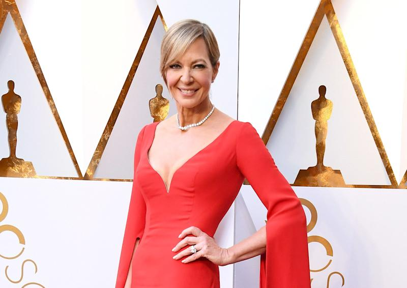 Allison Janney arrives at the90th Annual Academy Awards.